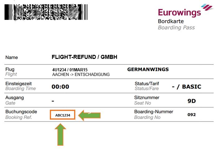 bordkarte eurowings - Flugverspatung Entschadigung Muster